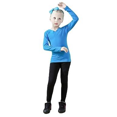 9a8ec8d78b9a Ketamyy Girls Children Ballet Practice Dance Clothes Long Sleeve ...