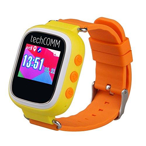 TechComm TD-03 Kids Smart Watch Gps Pedometer Geofencing Sleep Monitor (Card Alerts Text Discover)