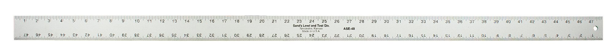 Sands Level & Tool  SLASE48T Professional Straightedge, 48-Inch x 2-Inch x 3/16-Inch, Silver