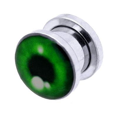 tumundo 1 Pieza o Kit Túnel Dilataciones Acero Inox Pendientes Piercing Expansor Stretcher Verde Ojo Halloween 3-10mm, modelo:10 mm Tunnel: Amazon.es: ...