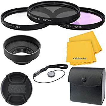 Sony HDR-PJ810 and Sony Handycam HDR-PJ650V Cameras Sony HDR-PJ540 46mm Collapsible Rubber Hood for Sony Handycam HDR-PJ430V CT Microfiber Cleaning Cloth