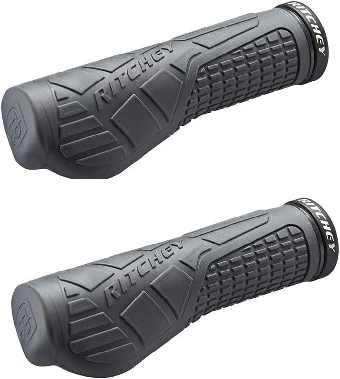 LG 133mm Ritchey Grips WCS EGP Poign/ées de Guidon /à Visser /à Deux densit/és PP//Gel avec Coeur en Forme dh/élice Adulte Unisexe Noir
