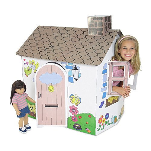- Emily Rose Doll Clothes Incredible Colorful Dollhouse or Kid's Play House with Functioning Door, Window and Roof Hatch! (Country Cottage)