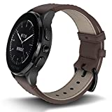 Vector Watch Luna Smartwatch-30 Day+ Autonomy, 5ATM, Notifications, Activity Tracking – Black Case/ Brown Leather-Casual