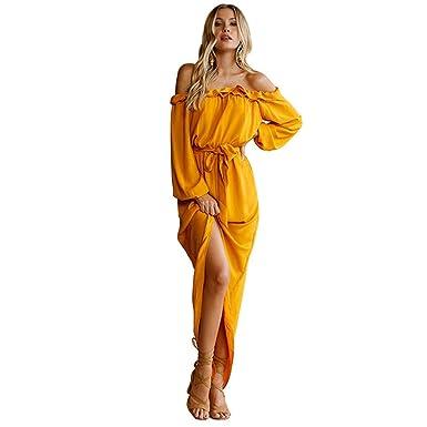 b9a73d660fd Robe Jaune plissée à la Mode Mango