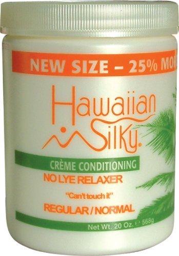 Hawaiian Silky No Lye Relaxer Regular, 20 oz   Signature Collection Creme Conditioning