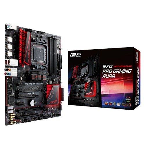 45 opinioni per Asus 970 PRO Gaming/Aura Scheda Madre, CPU Fino a 125 W, Nero/Rosso