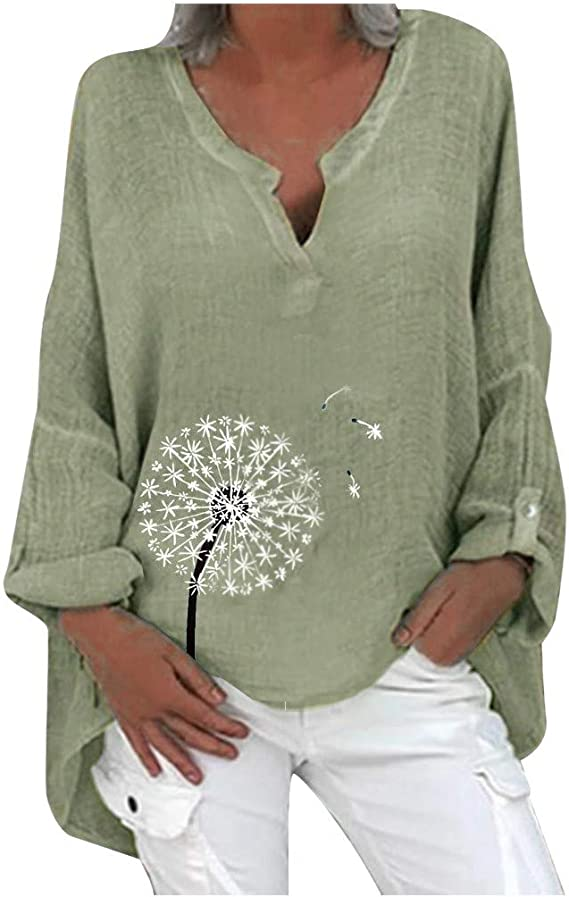 Women Summer Casual Floral Ladies Tops Blouse Loose Baggy stretch Tunic T Shirts