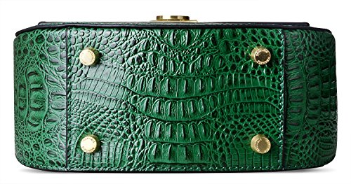 Leather Crossbody Bags Shoulder Women for PIFUREN Green Crocodile Handbags wqB7XX