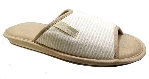 de fonseca Zapatillas de Estar por casa de Algodón para Mujer Beige Tórtola 40/41 EU: Amazon.es: Zapatos y complementos