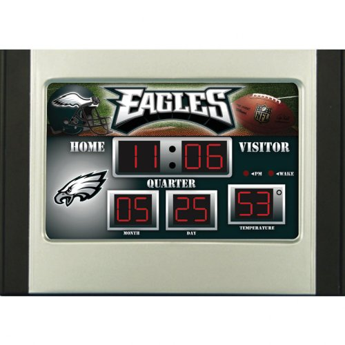 (Team Sports America Philadelphia Eagles Scoreboard Desk Clock)