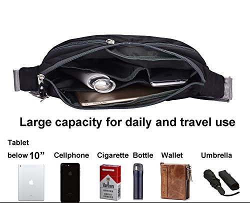 VRLEGEND Hobo Crossbody Bag Multi-Pocketed,Water-Resistant Travel Purse Everywhere