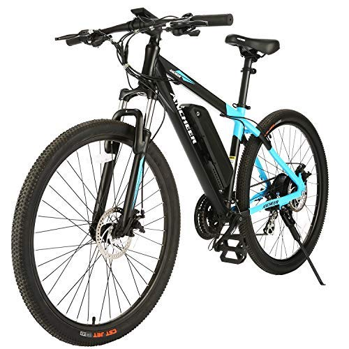 ANCHEER Electric Bike Electric Mountain Bike 350W Ebike 26'' / 27.5''Electric Bicycle, Newest 20MPH Adults Ebike with Removable 7.8Ah/10Ah Lithium-Ion Battery, Professional 21 Speed Gears