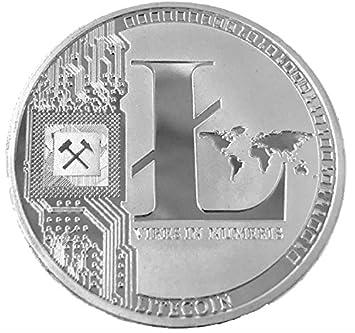 Litecoin LTC Físicos Moneda Plata Colores, Perfecto para los ...