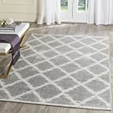 Safavieh Adirondack Collection ADR120B Silver and Ivory Modern Trellis Area Rug (3′ x 5′) Review