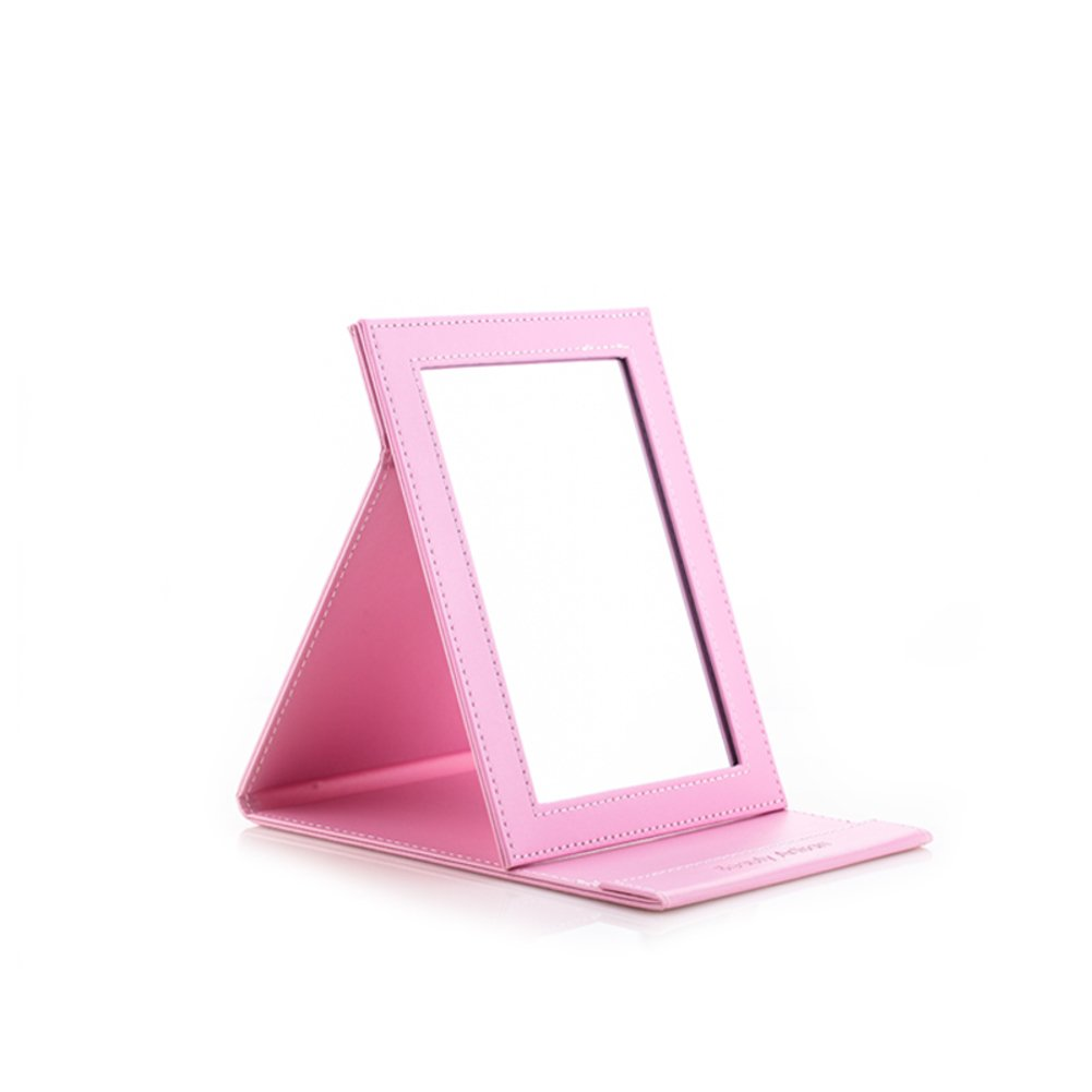 60%OFF folding cosmetic mirror/ portable mirror/ tablepuLeather dressing mirror/ hand mirror/ multi-color mirror-M