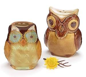 Autumn Owl Salt and Pepper Shakers by Burton & Burton