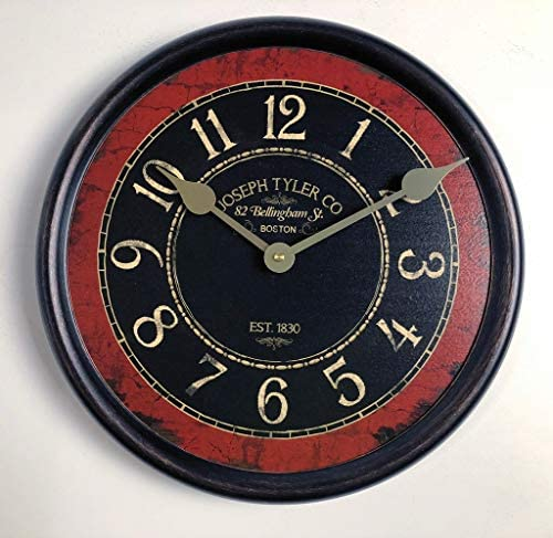 Bellingham Red Wall Clock, Available in 8 Sizes, Most Sizes Ship The Next Business Day,