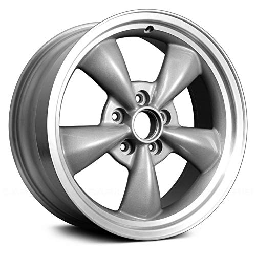 Replacement For Ford Mustang 01-04 Alloy Factory Wheel 17x8 5-Spoke Full Polished Alloy