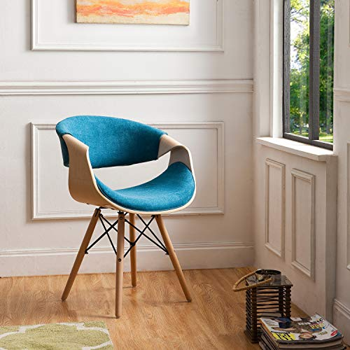 Supernova BSI011 Chair Plywood Armchair for Living Room, Turquoise