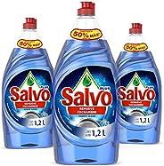 Salvo Lavatrastes Liquido Salvo Power Clean 3 Unidades 1.2lts, Total 3.6lts, color, 3.6 L