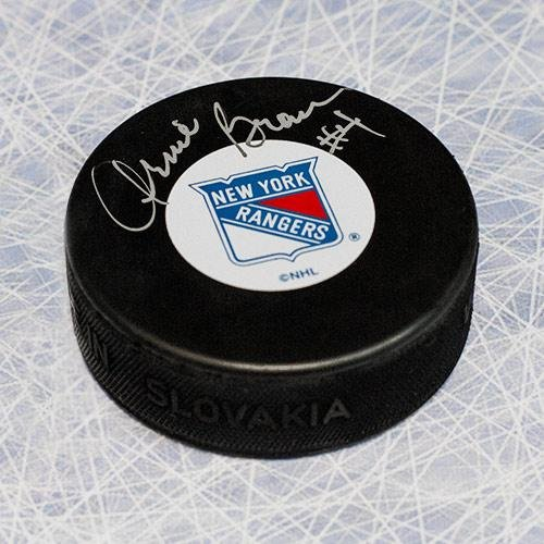 Arnie Brown Autographed Puck - Autographed NHL Pucks Sports Memorabilia