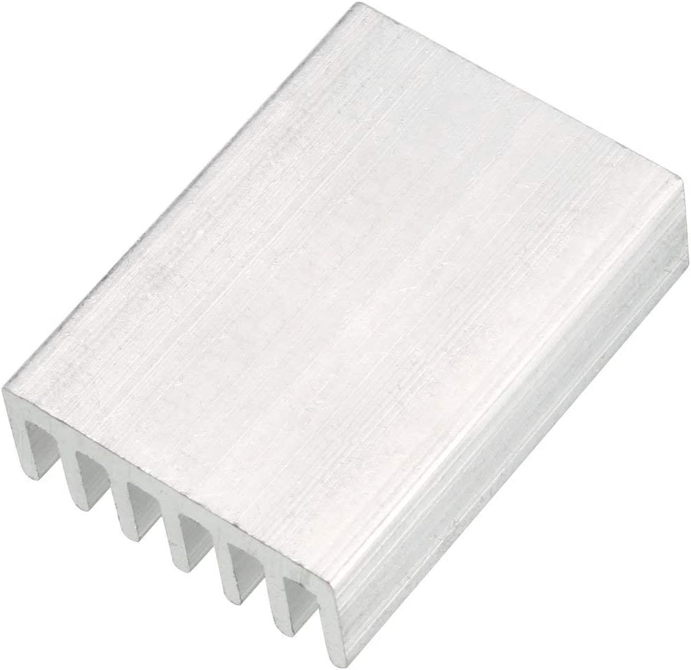 NA Aluminum heatsink Circuit Board Cooling fin Silver Tone 20 mm x 14 mm x 6 mm 10 Pieces for LED semiconductor Integrated Circuit Device