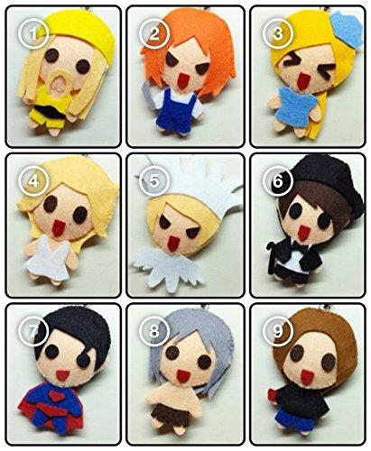 [[SET of 9] SJ Super Junior - Good Friends SS4 [Fancy Costume] KPOP Handmade Doll Keychains] (2ne1 Kpop Costumes)