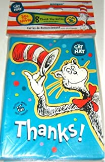 Dr Seuss The Cat In Hat Party Supply Thank You Cards 8 Count