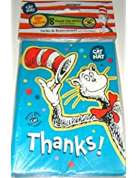 Dr Seuss the Cat in the Hat Party Supply Thank You Cards 8 Count BOBEBE Online Baby Store From New York to Miami and Los Angeles