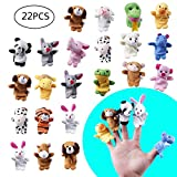 22pcs Soft Plush Animal Finger Puppets Set Baby Story Time for Theme Party Favor