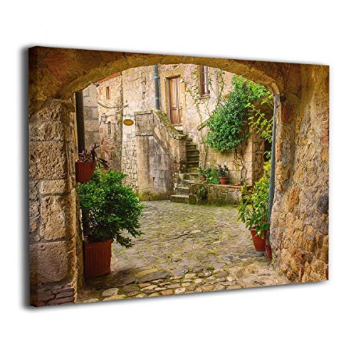 - Maxwellmore Antique Stone Tuscany Italian Valley Canvas Prints On Canvas Wall Art Original Designed Pictures Paintings Artwork Framed for Living Room Home Decoration 16