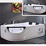 Bagno Italia vasca da bagno idromassaggio 8 getti 180x120 cm ozonoterapia e cromoterapia versione destra o sinistra 51 d0B5zpmL. SS150