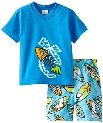 Flap Happy Little Boys' Big Kahuna 2 Piece Set, Blue, 2