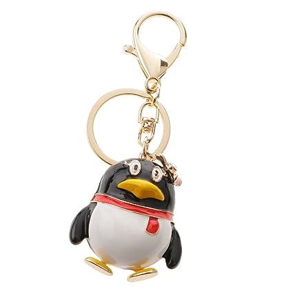 Desconocido Colgante Llavero QQ Llave del Coche Pingüino ...