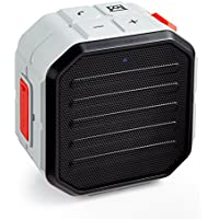 TKO Avalanche Cube Water-Resistant Bluetooth Speaker IP65 (All Are Black & Grey, But Color On Sides May Vary Between Green & Red)