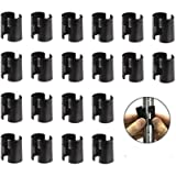 72 Packs of 3/4 Inch Wire Shelf Clips, Eau Wire Shelving Shelf Lock Clips for 3/4' Post Shelving, Replacements for Wire…