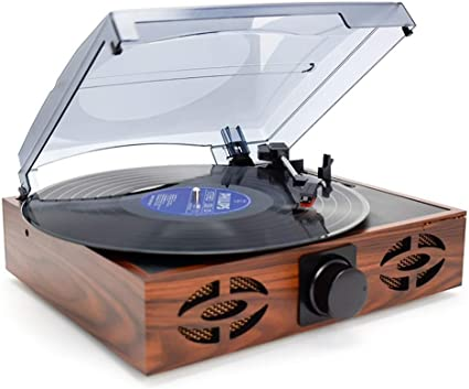 Record Player Turntable for Vinyl Record Wireless Portable LP Phonograph with Built in Stereo Speakers 3-Speed Belt-Drive Turntable