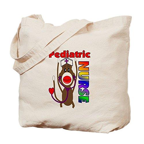 Monkey Sock Embroidery Design (IrmaPetty Nurse Sock Monkey - Natural Canvas Tote Bag, Cloth Shopping Bag)