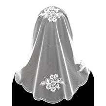 Anna Veils Chapel Catholic Veil Spanish Lace Mantilla Medium White - Potentilla