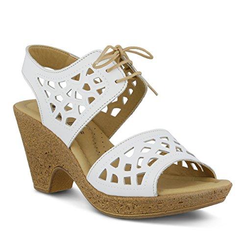 Spring Step Women's Lamay Sandal, White, 39 EU/8.5 M US