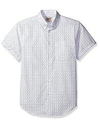 Naked & Famous Denim mens Spring Flower Print Short Sleeve Button Down Shirt
