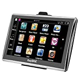 EasySMX 84H-3 GPS Navigator 7 Inch TFT LCD Touch Screen Preloaded Maps Music/Movie Player Multi-language Compatible with Window XP