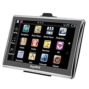 [7'' pouces GPS Auto Cartes graduit à vie] EasySMX Ecran Large Tactile 128M-8GB 1500Mah avec Pre-loaded Cartes GPS Europe Graduit à Vie avec Mode d'emploi en français