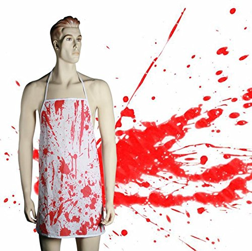 Perfect Present for the Practical Joker - Novelty, Scary, Fun, Joke Bloodbath Apron - Great for Halloween, Butcher Horror - Practical Jokes for the Kithen - Great Gift Idea OOTB