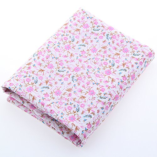 Arshily - Base Quality Cotton Fabric Print Pink Flower Home Textile Patchwork Quilting Clothes Bedding Tilde 50 cm x 160 cm A1 1 56