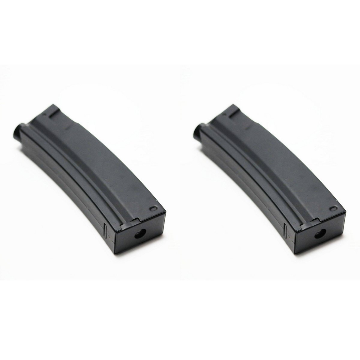 Airsoft Shooting Gear 2pcs Pack CYMA 65rd Mid-Cap Short Magazine for MP5 Series AEG Black
