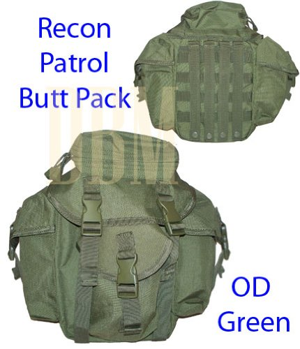 Molle Tactical Recon Patrol Butt Pack Bag OD Green, Outdoor Stuffs