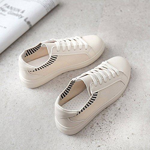 Choisir Blanc Taille Chaussures Couleur cn40 À Couleurs Respirant Mesh Confortable uk6 Nan 5 03 Plat Fond 01 Été Trois De Eu39 Femmes 7FaRwqY