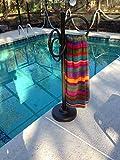 swimming pool furniture Outdoor Lamp Company 402BRZ Loop Designer Towel Holder - Bronze